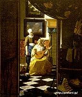 フェルメール「恋文」 原画同縮尺近似 (6号) vermeer-04-02