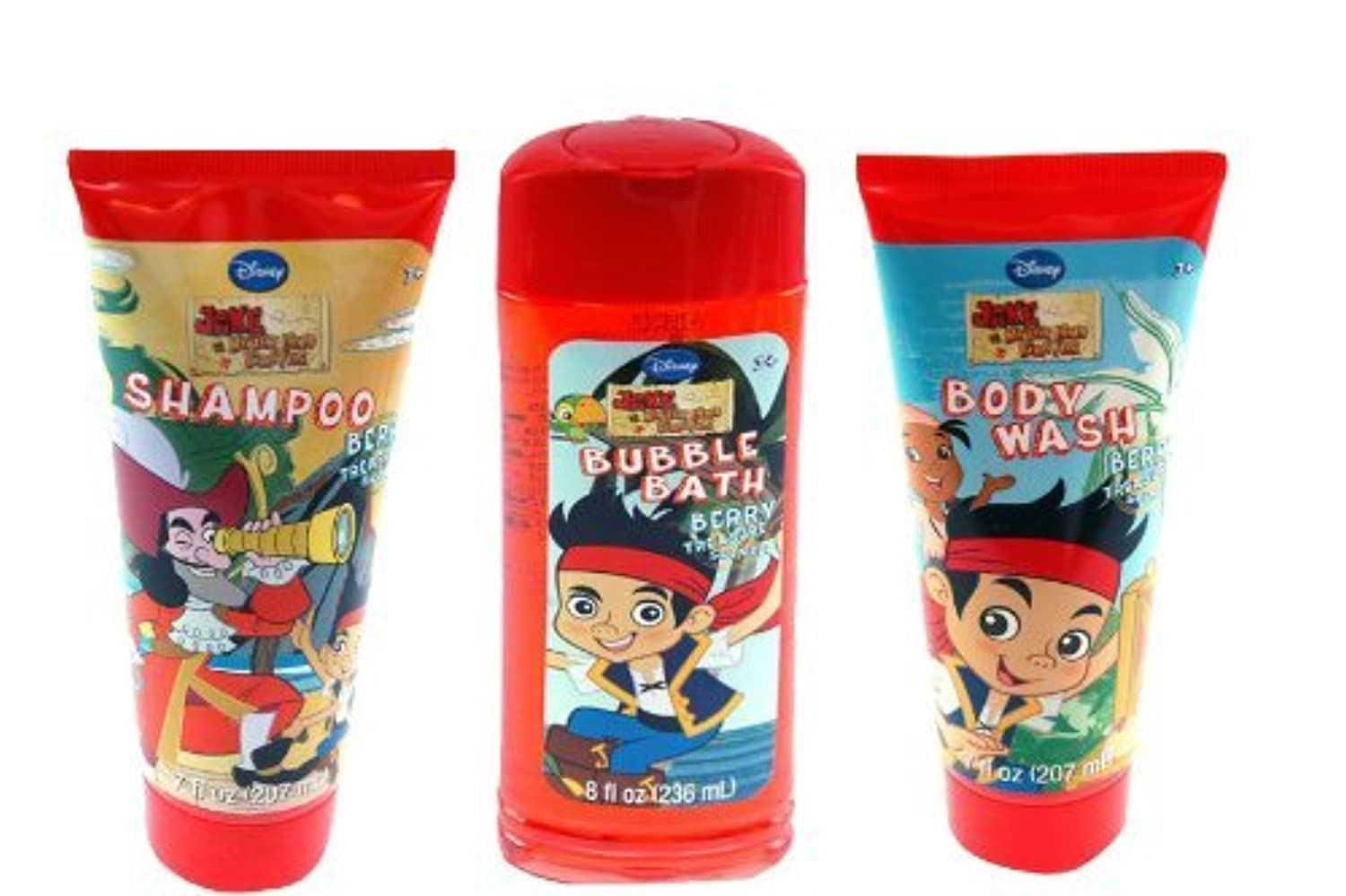Jake and the Neverland Pirates Bath Gift Set - Bubble Bath, Body Wash, Shampoo by United Pacific [並行輸入品]