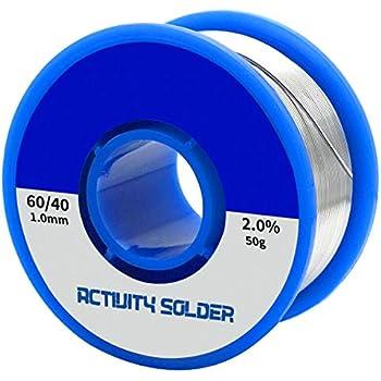 Tuloka はんだ50g ハンダワイヤ 半田錫リード線 ロジンコア 溶接ワイヤーフラックス,線径1.0mm