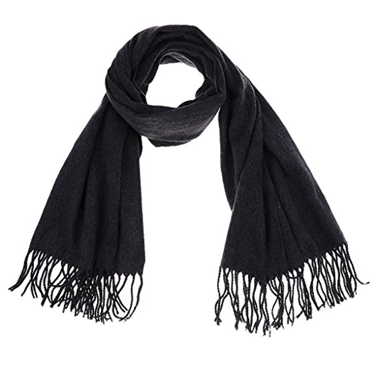 キャロライン十分センチメートルFenteer カシミアブレンド パシュミナ ソリッド タッセル ショール ラップ スカーフ  女性 冬 贈り物 全4色