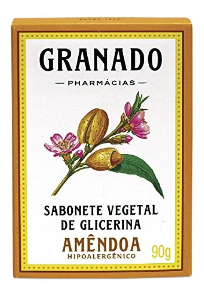 顎ローズコンプリートLinha Glicerina Granado - Sabonete em Barra Vegetal de Glicerina Amendoa 90 Gr - (Granado Glycerin Collection...