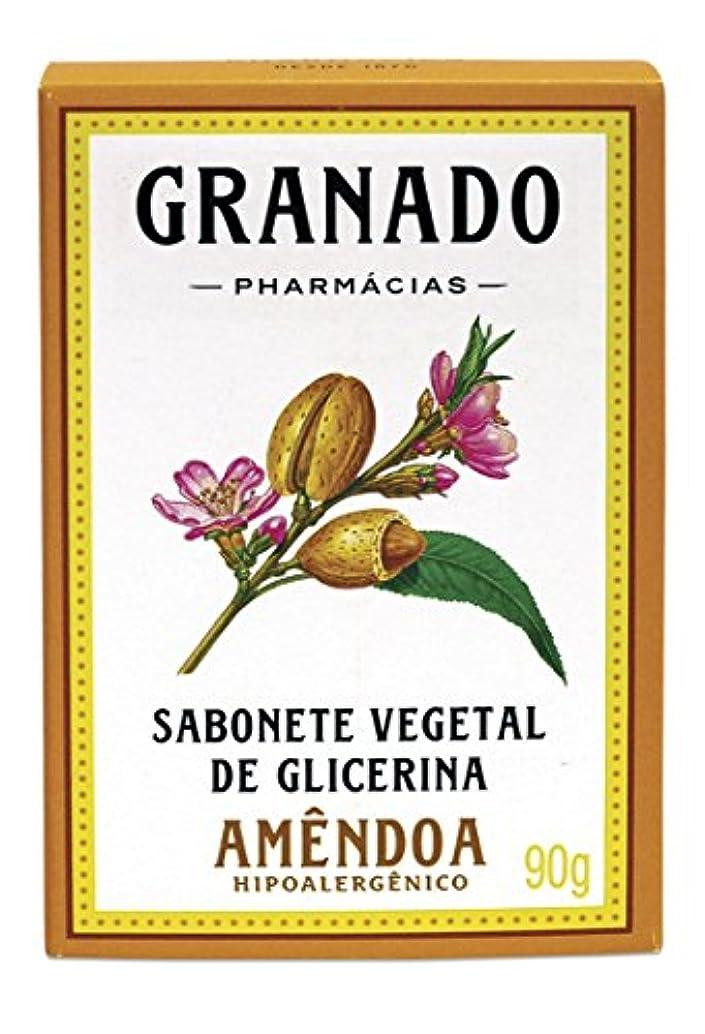 さわやか伝染性かび臭いLinha Glicerina Granado - Sabonete em Barra Vegetal de Glicerina Amendoa 90 Gr - (Granado Glycerin Collection...