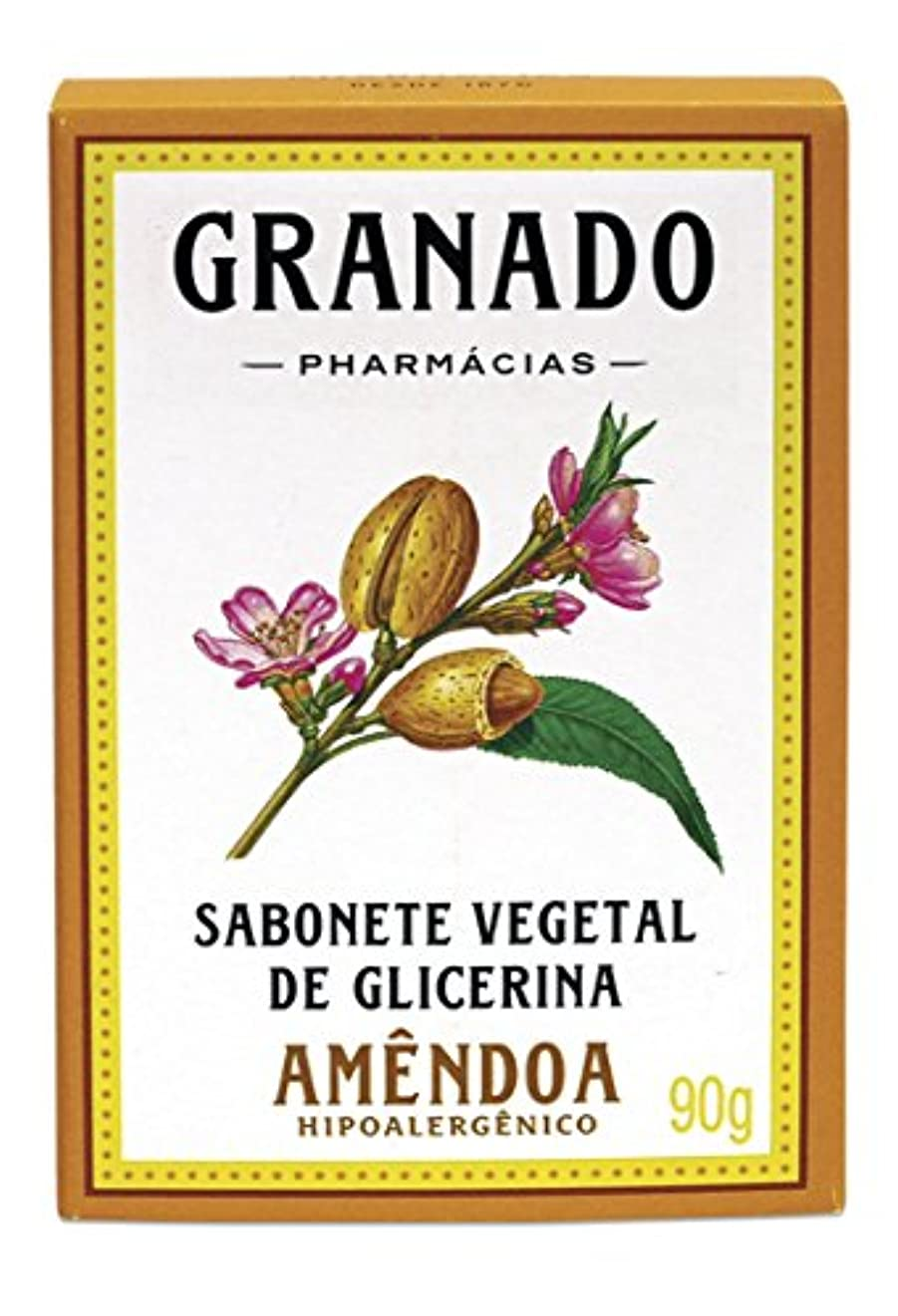 ヒール預言者腐敗Linha Glicerina Granado - Sabonete em Barra Vegetal de Glicerina Amendoa 90 Gr - (Granado Glycerin Collection...
