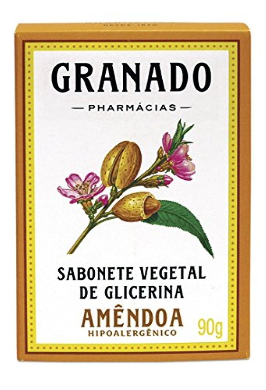 繕うコンペかわすLinha Glicerina Granado - Sabonete em Barra Vegetal de Glicerina Amendoa 90 Gr - (Granado Glycerin Collection...