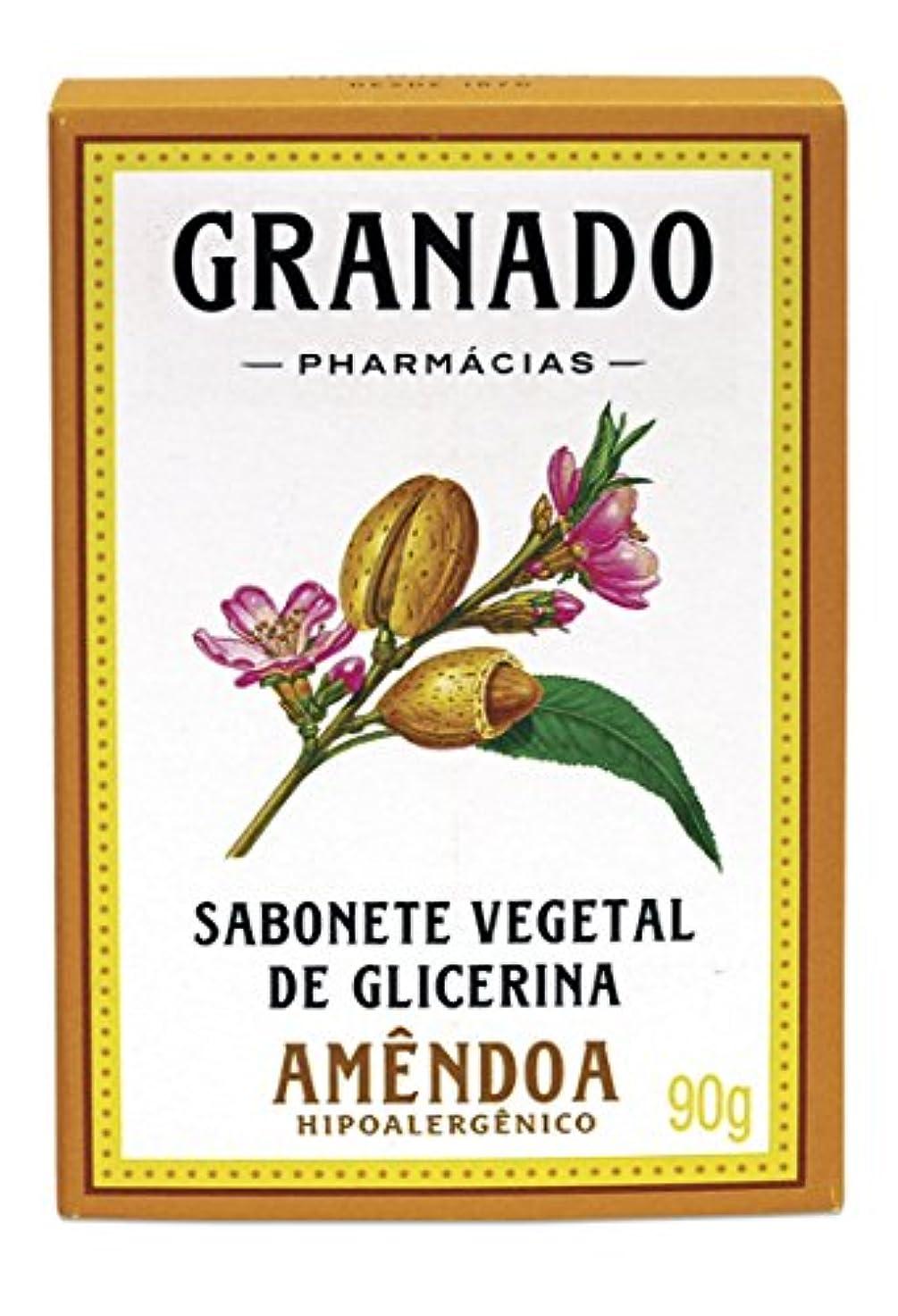 Linha Glicerina Granado - Sabonete em Barra Vegetal de Glicerina Amendoa 90 Gr - (Granado Glycerin Collection...