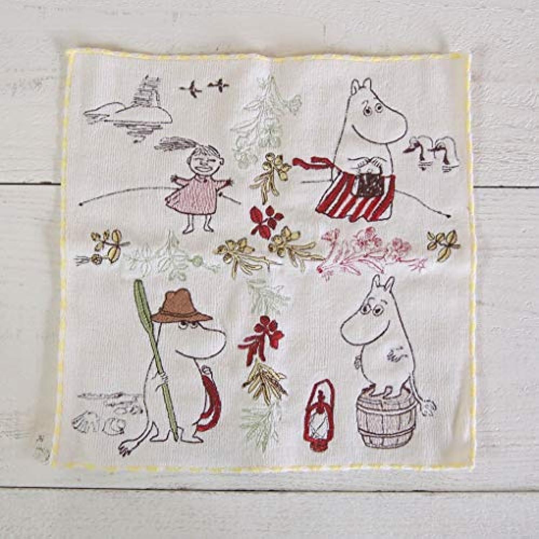 MOOMIN ムーミン 刺繍タオルハンカチ/諸島のムーミン