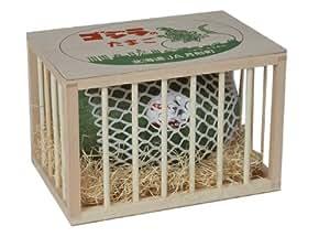 ゴジラのたまご 秀品 (3L×1玉) 檻型木箱入 月形町特産楕円形スイカ