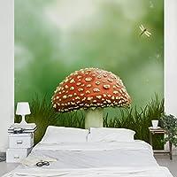 不織布壁紙プレミアム–Toadstool–壁画正方形壁紙壁壁画写真機能wall-art壁紙壁画寝室リビングルーム HxW: 132,28 x 132,28 inch 96955