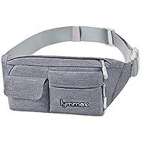Waist Bag, Water Resistant Waist Pack with 4 Pockets for Man Women Waterproof Outdoors Running Climbing Carrying Bag- Grey …