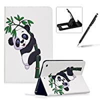 (Design 4) - Leather Case for iPad Mini 1/2/3,Flip Wallet Cover for iPad Mini 1/2/3,Herzzer Stylish Cute Panda Pattern Magnetic Folio Smart Stand Cover with Soft TPU Inner Case for iPad Mini 1/2/3