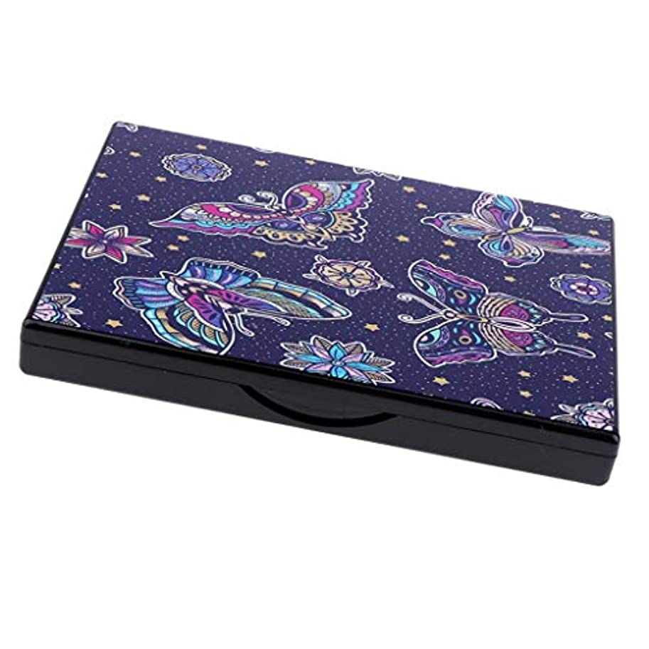 アヒルびっくりオンスB Baosity メイクアップパレット DIY 化粧品 ケース 旅行 化粧鏡 ミラー付き 2タイプ選べ   - バタフライ
