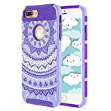 Best CASE-ONのiPhone 4ケース - iPhone 7Plusケース, KMISS 2in1ハイブリッドケースwith Henna MandalaフローラルデザインPC +シリコンハイブリッドHigh Impact Review