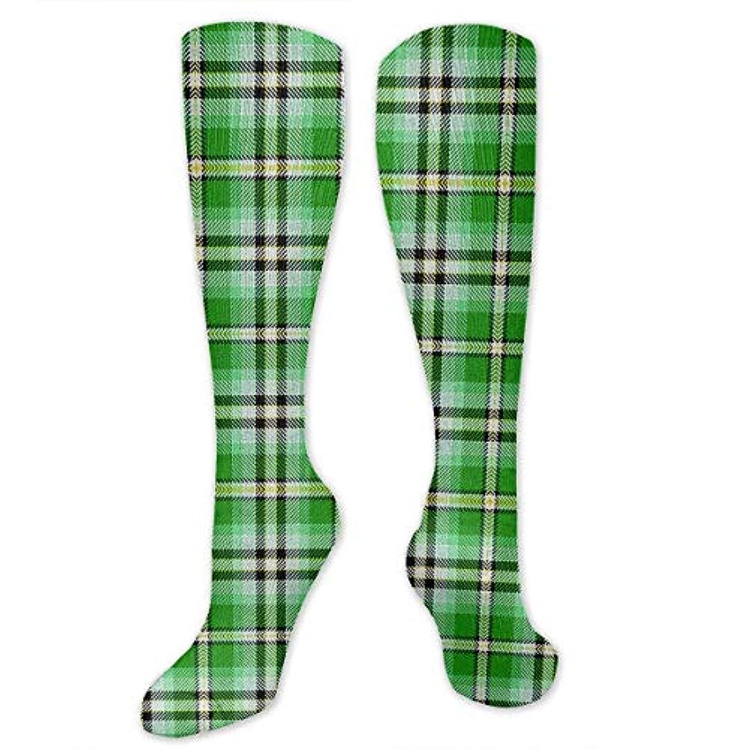 自信がある読み書きのできない士気靴下,ストッキング,野生のジョーカー,実際,秋の本質,冬必須,サマーウェア&RBXAA Green Yellow Black and White Plaid Socks Women's Winter Cotton Long...