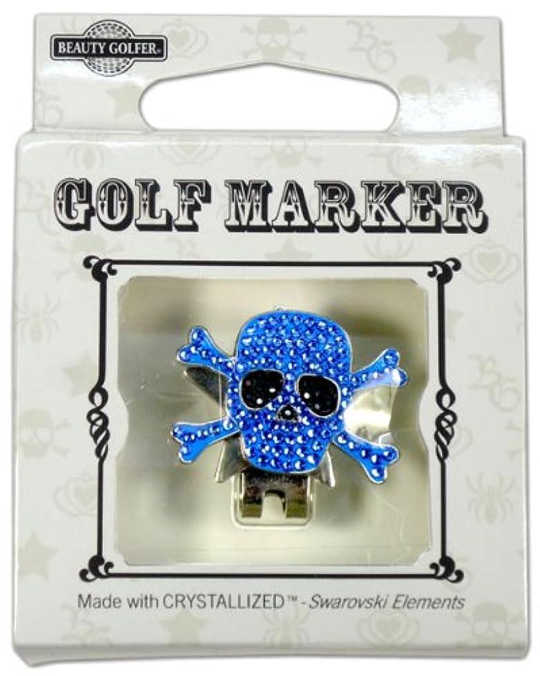 上院硬化する損失ゴルフ マーカー BG-16 ドクロ ブルー