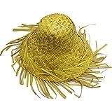 Straw HatハワイアンファンシードレスパーティーストローBeachcomber Curl Upエッジ帽子大人の
