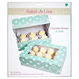Baked With Love 6 Cup Cake Or 12 Fairy Cake Boxes 12 per pack - (Baked with Love) 6カップケーキまたは12妖精ケーキボックス12パックあたり [並行輸入品]