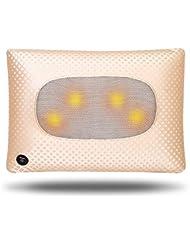 HAIZHEN マッサージチェア ホーム枕マッサージ多機能マッサージピロー混和マッサージ (色 : ゴールド)