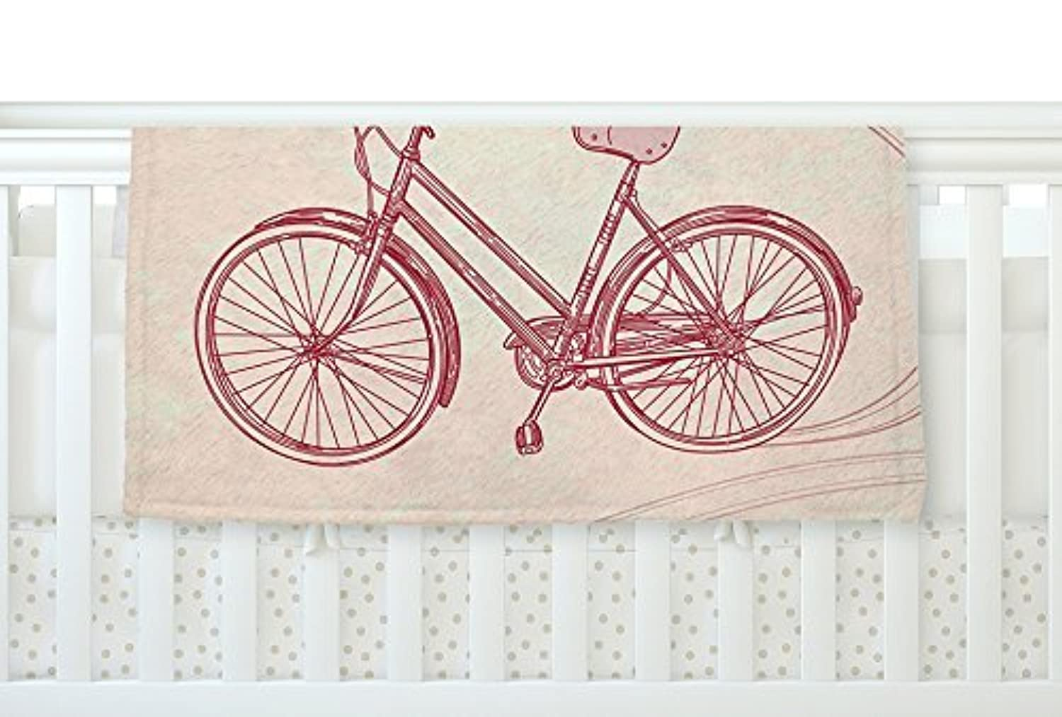 KESS InHouse Sam Posnick Bicycle Fleece Baby Blanket 40 x 30 [並行輸入品]