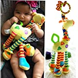 Heyuni. Stroller Car Seat Toy Kids Baby Bed Crib Cot Pram Hanging Giraffe Toy Pendant with Ringing Bell