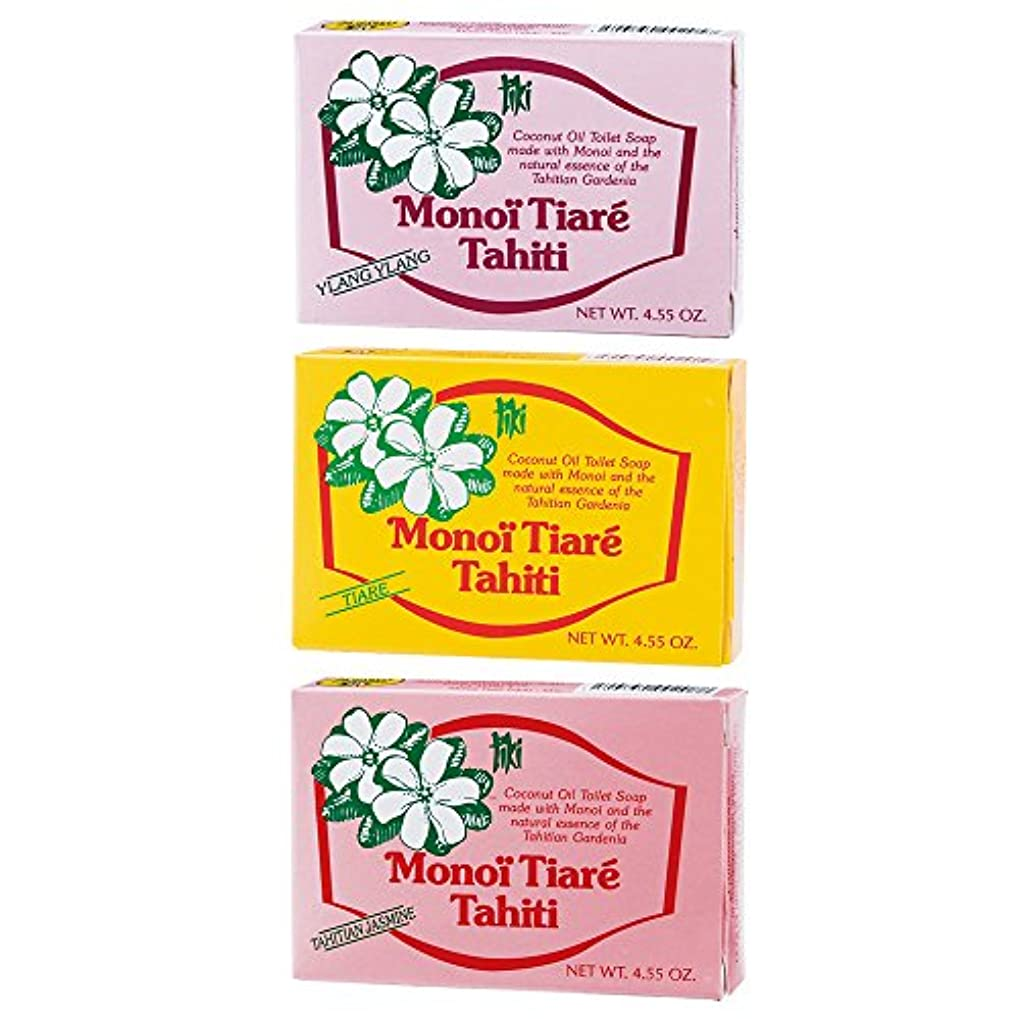 共同選択洗練小人タヒチお土産 タヒチ モノイティアレ 石けん 3種セット