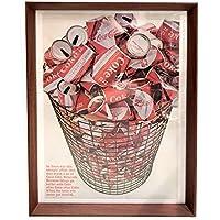 コカ・コーラ コーラ缶 1960年代 ビンテージ 雑誌 広告 ポスター アートフレーム 額付