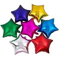50pcs/lot Star Shape Foil Mylar Helium Ballon 18 Balloon Birthday Party Decoration Foil Balloons by Adoby