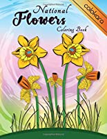 National Flowers Coloring Book: Easy Flower Coloring Book for Seniors Adults: National Flora Around the World Coloring Pages | Botanical and Beautiful Pattern Designs | Stress Relief and Relaxation | Large Print Easy to Color