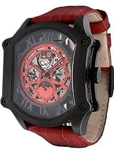 【+BILLETE】 ビレット 自動巻き スケルトン メンズ 腕時計 BL-0018 選べる3色! (BKRR)