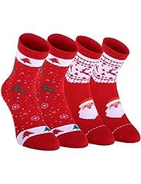Fazitrip ソックス 靴下 メンズ レデイース クリスマス お祝い 汗止め オシャレ 抗菌防臭 弾性 シームレス 2足