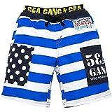 (シーギャング)SEA GANG キッズ サーフパンツ Dウエスト太ボーダー