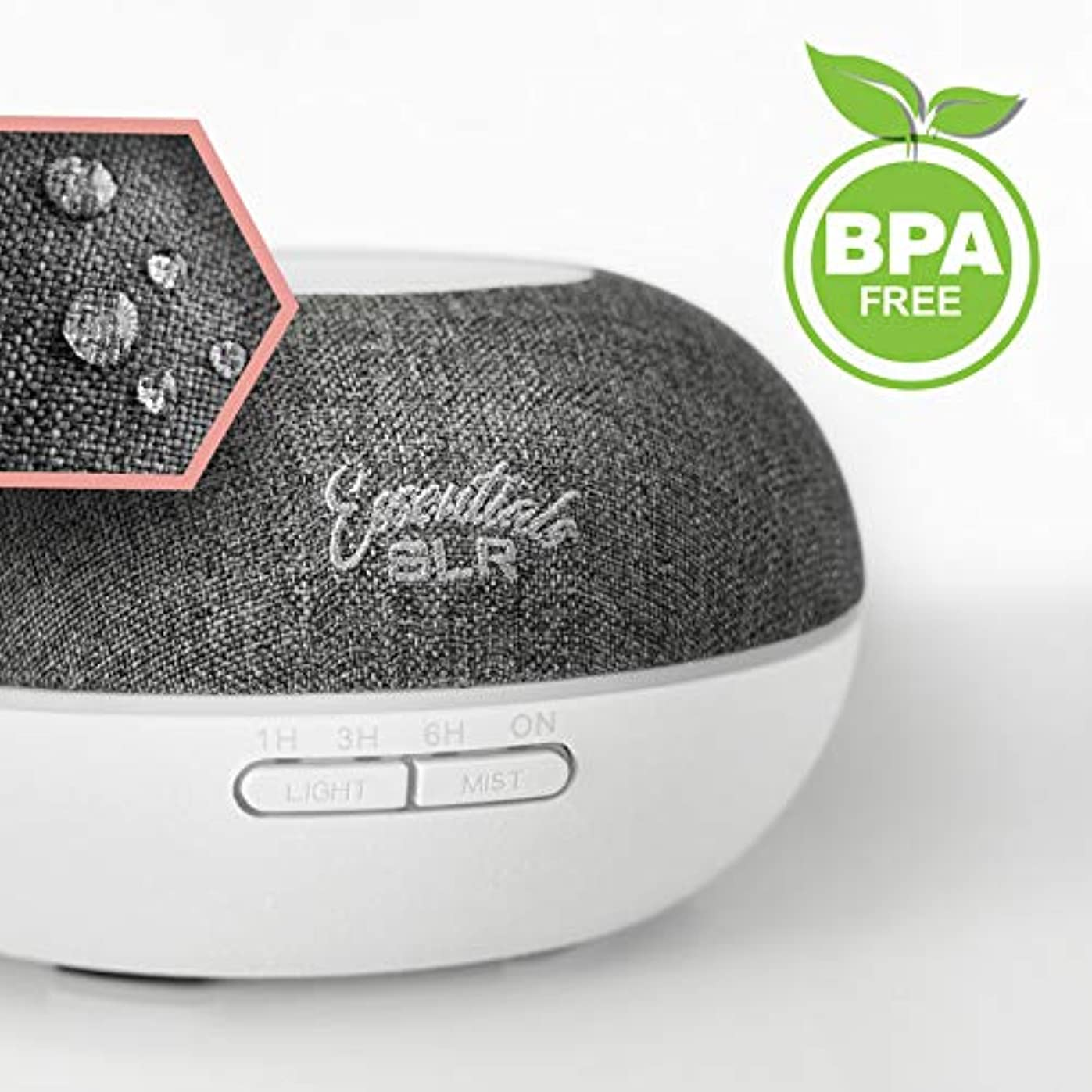 消毒剤クリスチャン悪行SLR 500 ml Aromatherapy Essential Oil Large Diffuser BPAフリー超音波空気加湿器withマルチカラー変更LED、自動遮断 500ml SLR:900-00055