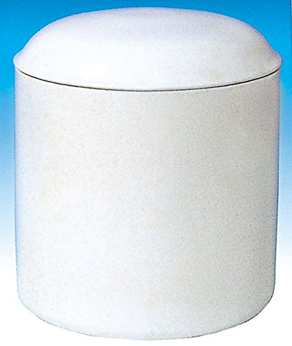 骨壺 白並 胴径約9x高さ約11cm