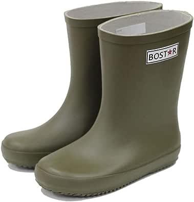 [ボストアール] レインブーツ キッズ 子供 長靴 男の子 女の子 BOST-R (13cm-23cm) 13cm,オリーブ・カーキ