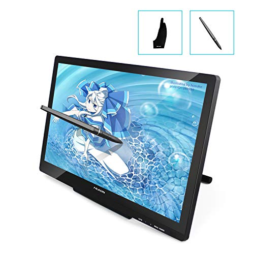 HUION GT-220 V2 IPS液晶21.5インチ液晶ペンタブレット フルHD液タブ ブラック (V2 ブラック)
