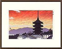 徳力富吉郎『東寺の塔』木版画