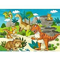 フォト壁紙–キッズ壁紙Dino–不織布Premium Plus–My First Dinos–壁装飾フォト壁壁ドアウォール紙ポスター& Prints Wallpaper 118.1x82.6 Inch / 300x210 cm FTVLPP-0119-300X210