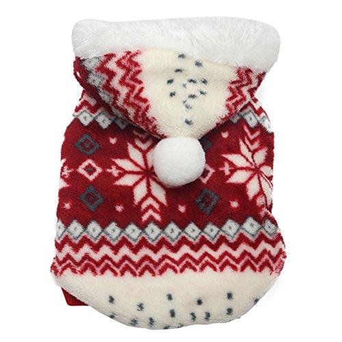 OUYOU 犬服 クリスマス 防寒 暖かい 小中型犬服 犬の...
