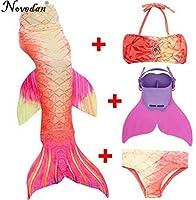 子供の人魚尾 子供 女の子 衣装 泳ぐリトルマーメイドテール人魚の水着フリッパー 11T Style 13