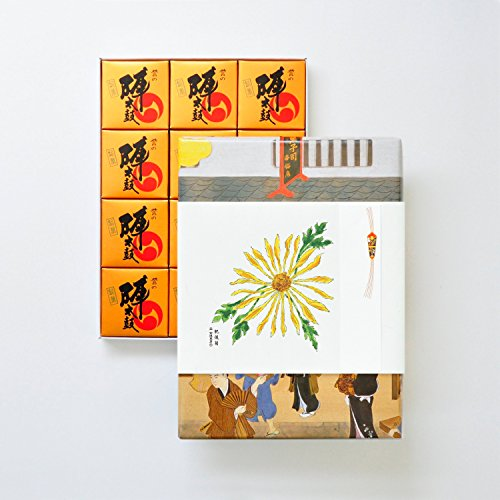 お菓子の香梅 誉の陣太鼓 12個入 肥後六花のし紙 【肥後菊】 スイーツ 910g