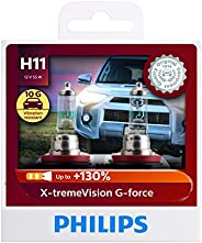 Philips 12362XVGS2 H11 XtremeVision G Force Headlight Globe Twin Pack
