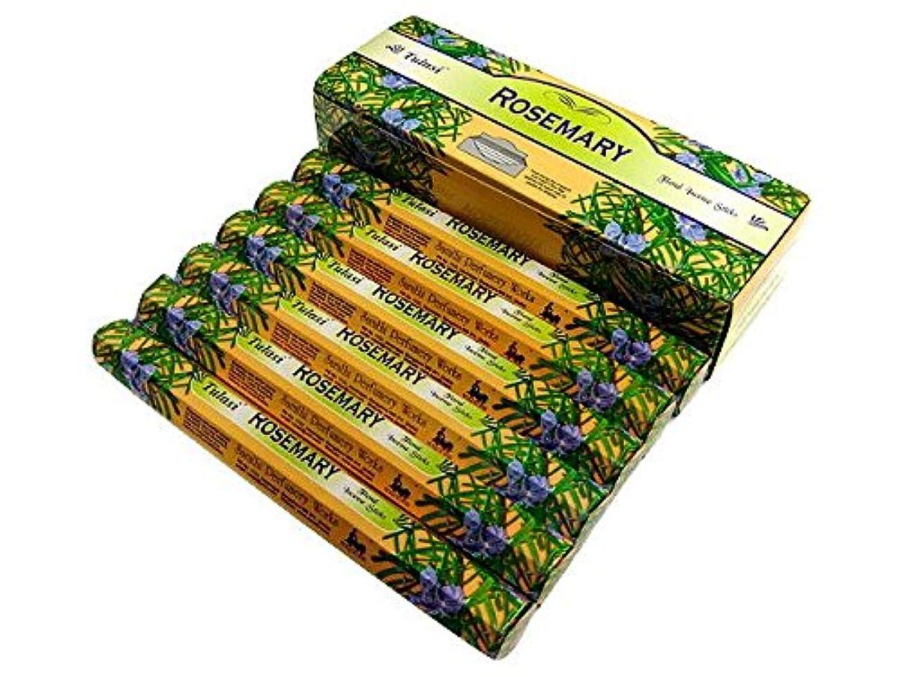 明確にのど消毒剤TULASI(トゥラシ) ローズマリー香 スティック ROSEMARY 6箱セット