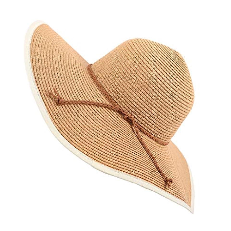スカリー不安以上UVカット 帽子 UV帽子 紫外線対策 通気性 ビーチ ハット 帽子 レディース 取り外すあご紐 サイズ調節可 つば広 おしゃれ 可愛い ハット 旅行用 日よけ 夏季 女優帽 小顔効果抜群 海辺 ワイルド パーティーROSE...