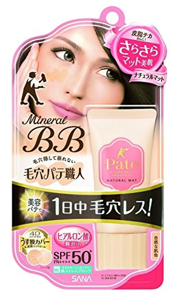 有害な重要な違う毛穴パテ職人 ミネラルBBクリーム ナチュラルマット 自然な肌色 30g