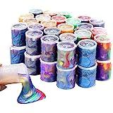 EASYCITY 48 Pack Barrel of Slime - Colorful Sludgy Gooey Fidget Kit for Sensory and Tactile Stimulation, Stress Relief, Prize