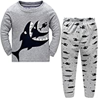 Dizoon Kids Boys Girls Pjs Long Sleeve Shark Clothes Little Boys Pajamas Sleepwear Set Pyjamas 2 Piece 2-12 Years
