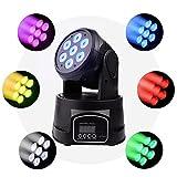 BETOPPER ステージライト 舞台照明 LED 回転 音声起動 7x8W RGBW ムービングヘッド DJ照明 DMX512 ミニ ムービングライト 照明ライト ディスコライト パーライト ストロボ 照明/演出/舞台/ディスコ/パーティー/KTV/結婚式/クラブ/バー イルミネーション (LM70S)