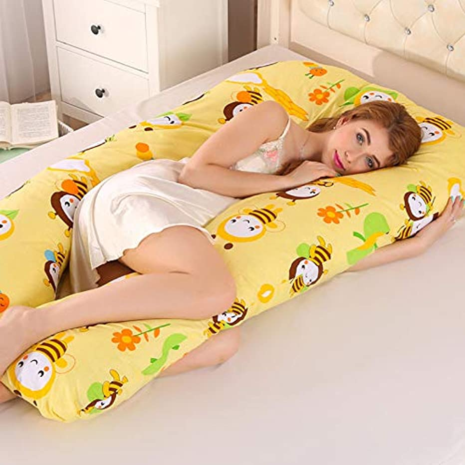 出発ジョセフバンクス解読するTengfly U形枕妊娠中の女性側睡眠スリーパー快適で取り外し可能なウエストサポート