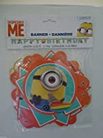 Minions Despicable Me Birthday Banner 6.25フィートLong–紙