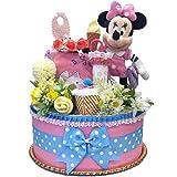 出産祝い ディズニー ミニー マウス おむつケーキ 女の子 カーターズ 赤ちゃん ダーパーケーキ パンパース DK1089-S
