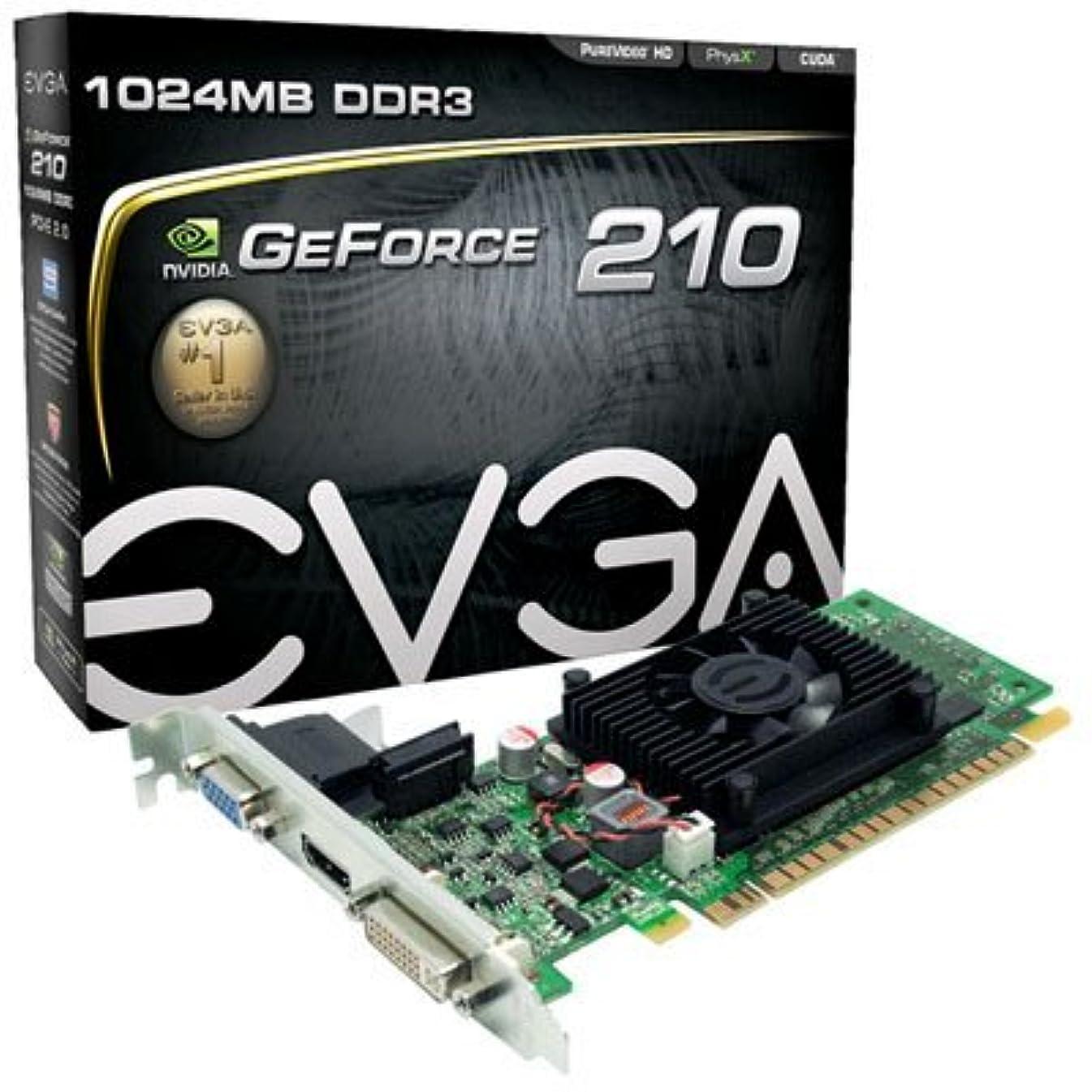 男一過性行商人EVGA 01G-P3-1312-LR GeForce 210 1GB DDR3 Graphics Card 64bit 2560x1600 PCI Express 2.0 x16 VGA DVI HDMI Low Profile by EVGA [並行輸入品]